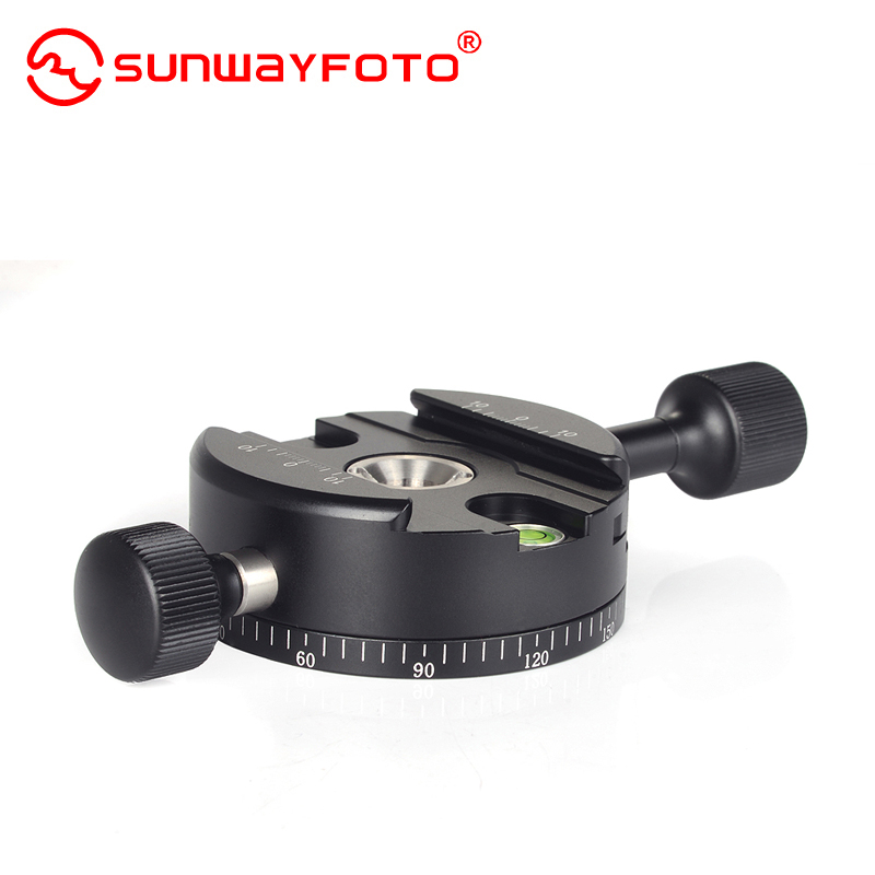 Wei sheng sunwayfoto DDH-04 tabs panoramic ptz camera quick release plate clamp rotating base