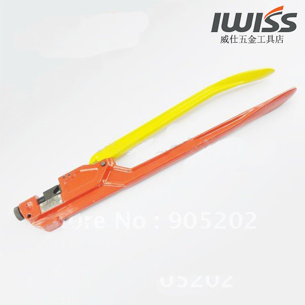Weiss line copper wire ear nose crimping pliers iwiss TM-120 manual crimping pliers (after pressure was a point type)