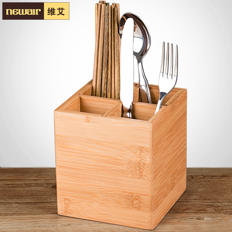 Weiyi kitchen shelving rack drain chopsticks cage cutlery storage box chopstick chopsticks chopsticks bamboo frame bamboo kitchen supplies