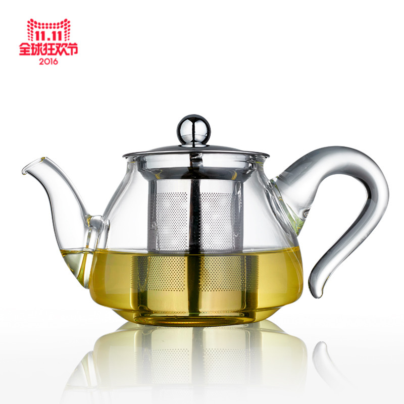 Wen morning tea bubble tea sets glass teapot stainless steel filter liner with elegant flower cup teapot 1500 ml
