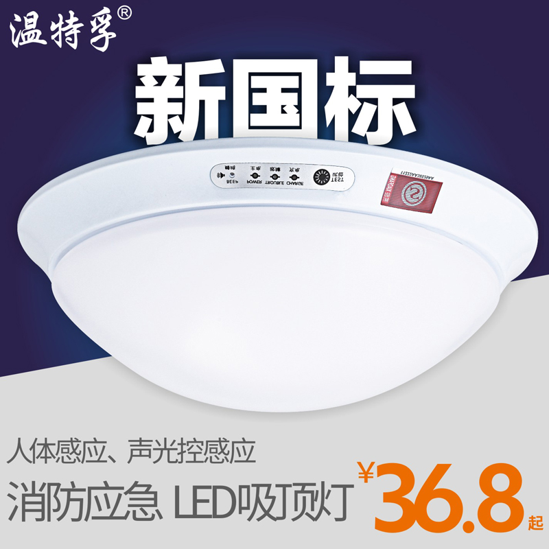 Wendt fu led emergency lighting fire emergency lights ceiling corridor corridor human infrared sensor light