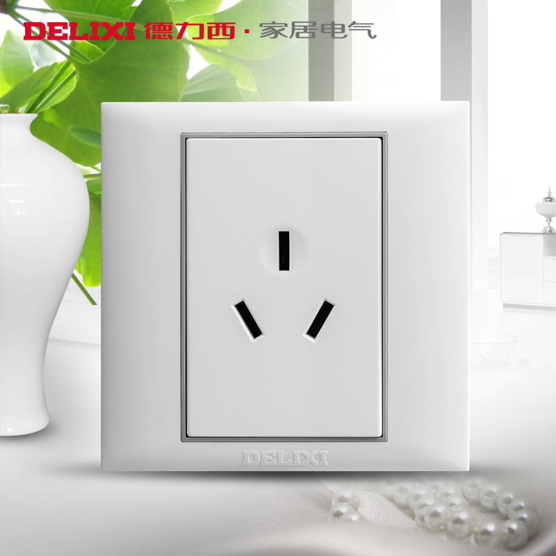 West germany switch socket switch panel wall switch three plug socket 10a socket panel with three holes