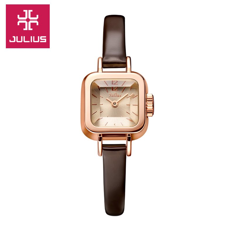 When julius poly lee korean fashion watches awhole square belt watch female table ladies watches authentic