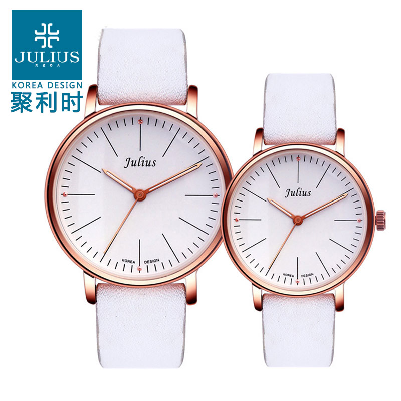 When julius poly lee watches couple watches waterproof quartz watch simple fashion belt female form students 814