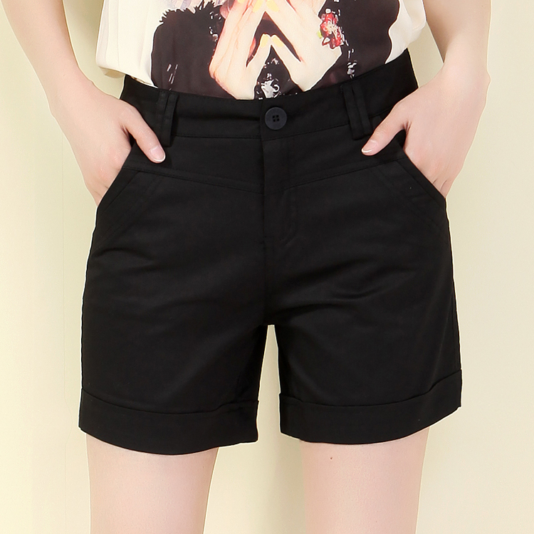 Where excellent snow 2016 new female summer was thin casual shorts straight jeans korean version of large size four pants ladies shorts