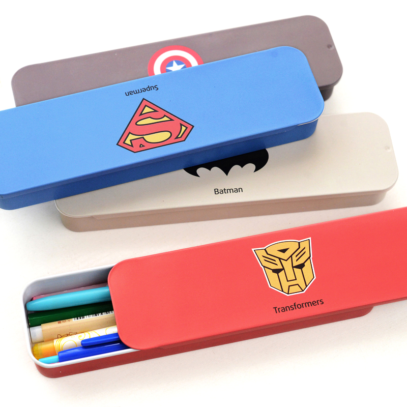 Where gifted stationery free shipping south korea creative cute personalized stationery hero push pencil box desktop storage box