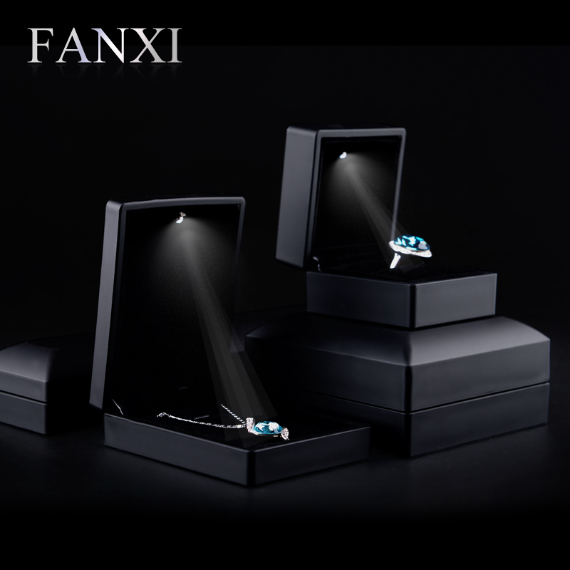 Where the west fanxi led creative engagement ring box ring box pendant necklace jewelry jewelry storage box H00102