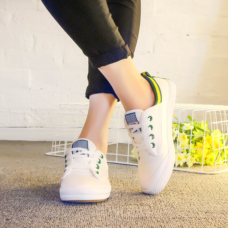 White canvas shoes female star of the same paragraph autumn 2016 korean version of white shoes ladies shoes casual shoes flat with students