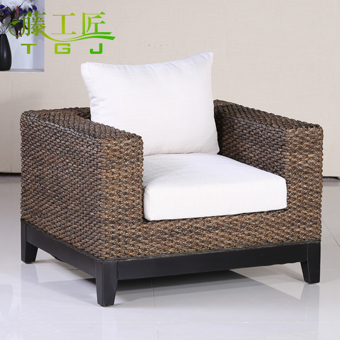 Wicker chair wicker chair coffee table combination living room sofa rattan sofa single bit sofa southeast rattan furniture factory direct