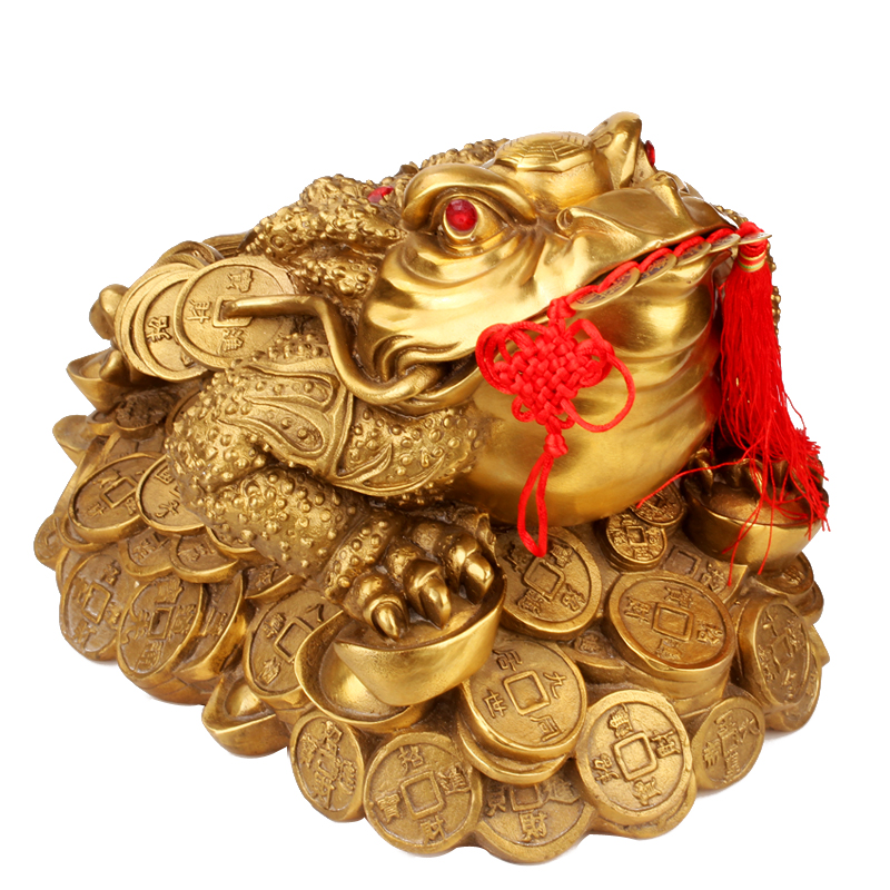 Wide margin de home loaded three legged toad toad ornaments lucky toad feng shui brass jewelry gifts furnishings
