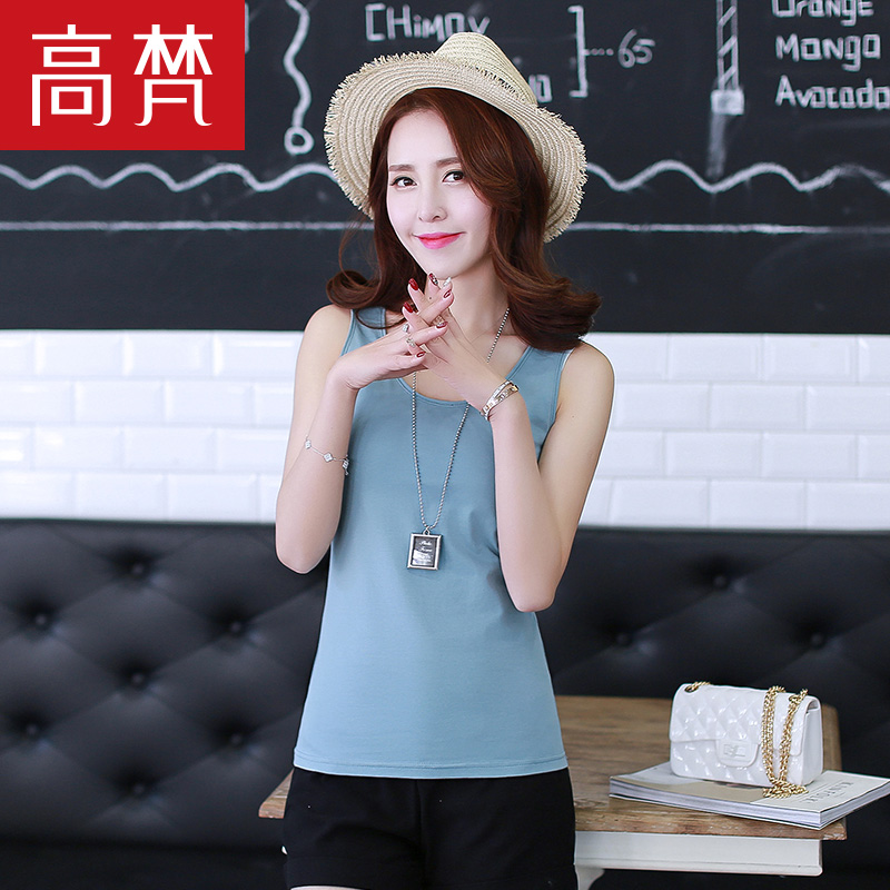 Wild simple vest female short paragraph slim was thin straps bottoming out with a shirt summer korean version of ms. outer wear suspenders Shirts