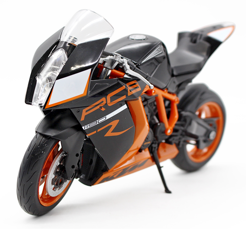 Willie welly1: 10 ktm 1190 rc8/r motorcycle model gift collection black orange