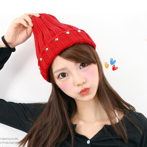 Winter hat korean tidal ms. warm wool knit wool cap autumn and winter days korean autumn and winter hat baotou