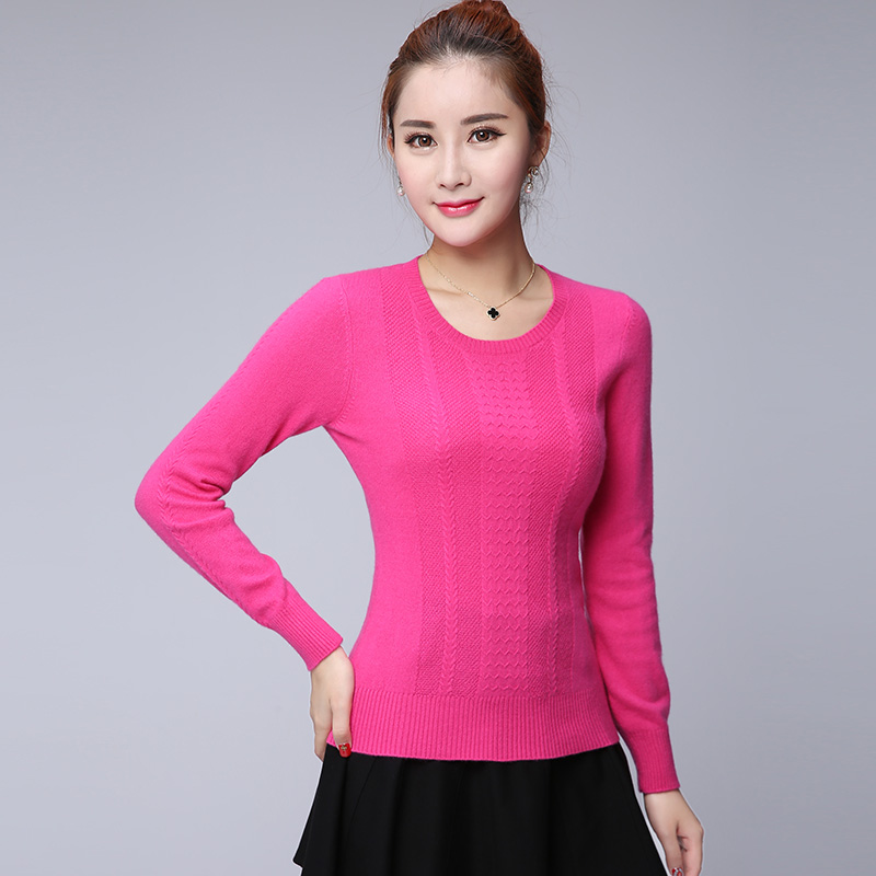 Winter new korean version of a solid color knit cashmere sweater piles collar hedging sweater female body repair stretch bottoming shirt free shipping