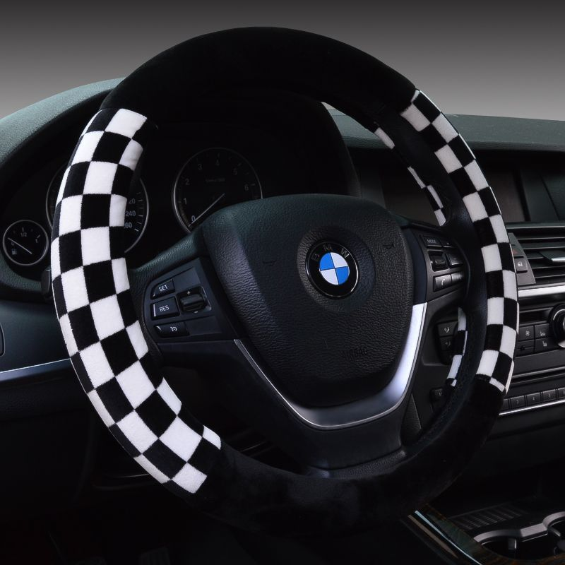 Winter plush car to cover volkswagen cc bora lavida sagitar tiguan ling crossing jie reached car steering wheel cover