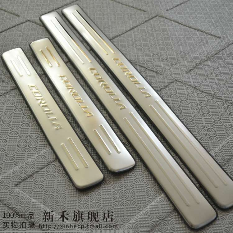 Wo new corolla toyota corolla welcome pedal car special stainless steel sill strip