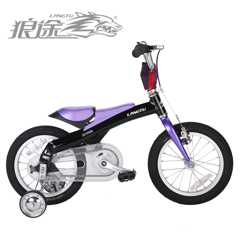 Wolf passers 14 inch aluminum alloy car four years old child bicycle children bicycle KV02 gliding car