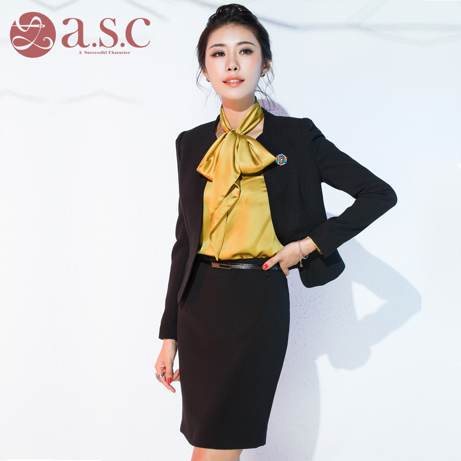 Women wear skirt suits spring and autumn long sleeve western dress pants ol slim ladies dress suit overalls interview