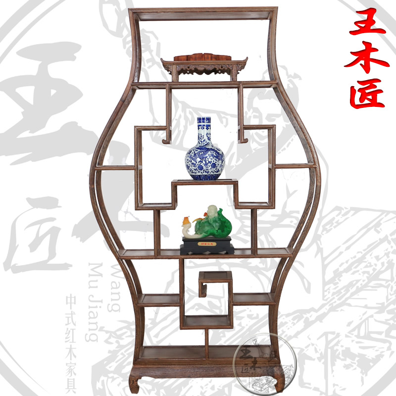 Wong carpenter wenge shelf dubbo house】 gretl store shelf classical chinese ming and qing antique teapot tea