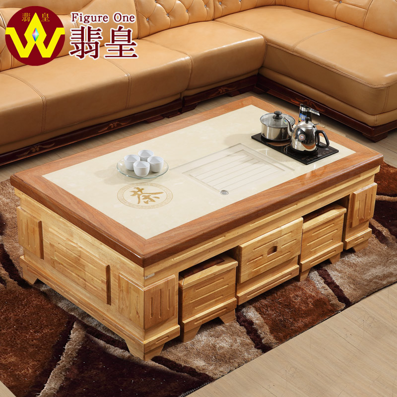 ... Wong Fei Full Of Oak Marble Coffee Table Wood Coffee Table Kung Fu Tea  Table Tea
