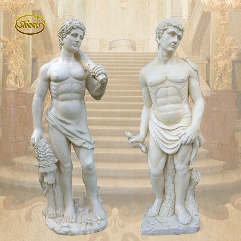 Wood prop david statue sculpture sculpture european classic upscale indoor and outdoor decoration crafts ornaments