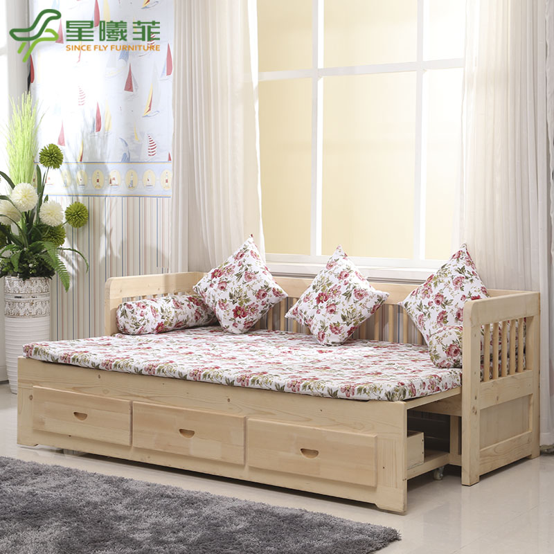 Wood sofa bed 1.2 european sofa bed folding sofa bed 1.5 m 1.8 miou style sofa bed custom