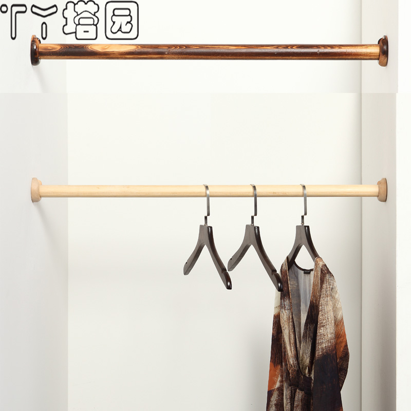 Wood wardrobe closet rod for hanging clothes hangers clothing store interior wood cabinets custom closet clothes clothing through the rod display rack hanging rod accessories