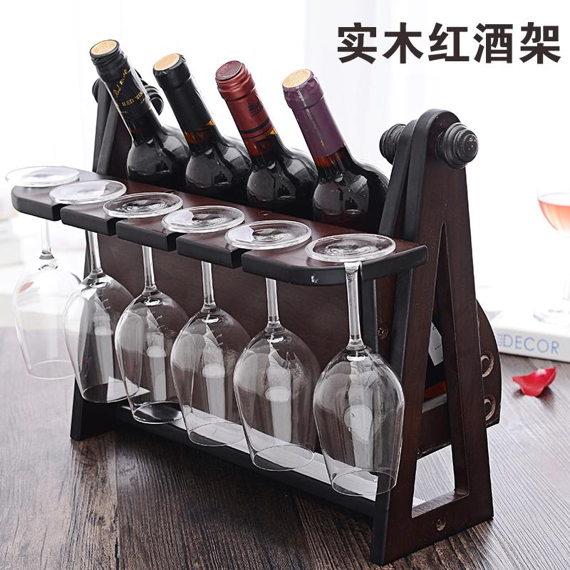 Wood wooden wine rack wine rack creative living room decorative ornaments wine rack wine cup holder wine rack wine rack wine rack wood wine