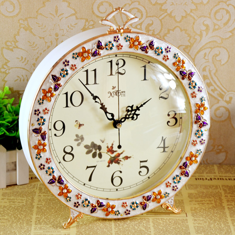 Get Ations Wooden Clock European Past Style Living Room Bedroom Creative Fashion Mute 662
