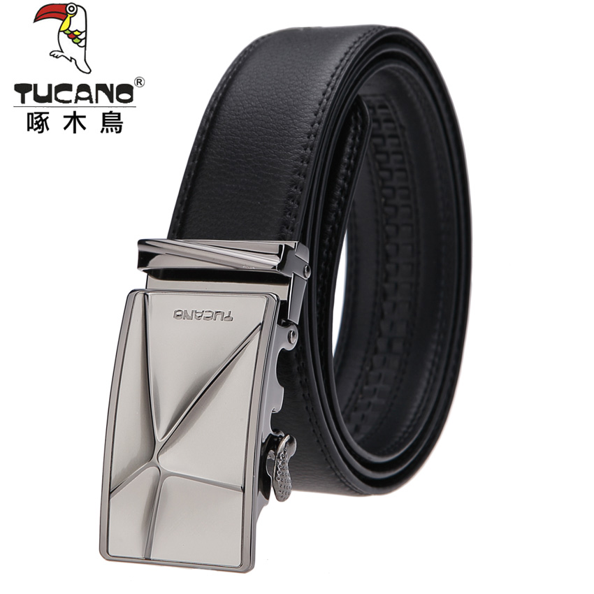 Woodpecker leather belt men's leather belt automatic belt buckle belt business men korean version of the influx of 2015 new authentic