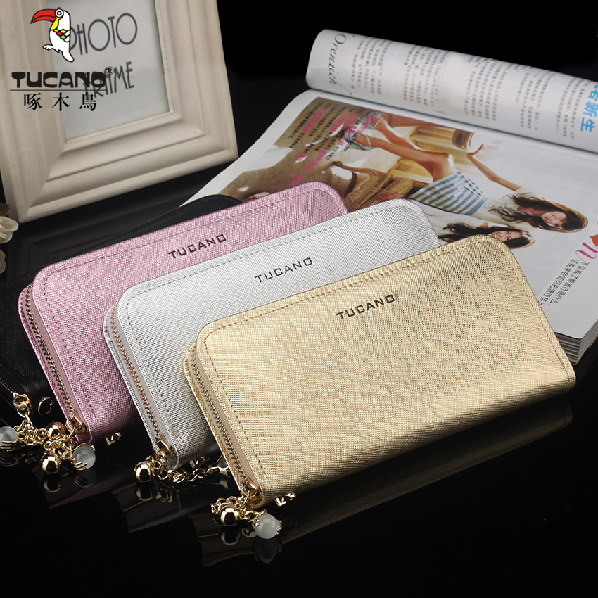 Woodpecker ms. wallet long section of female leather handbag zipper wallet korean version of the summer paragraph 2016 new leather clutch