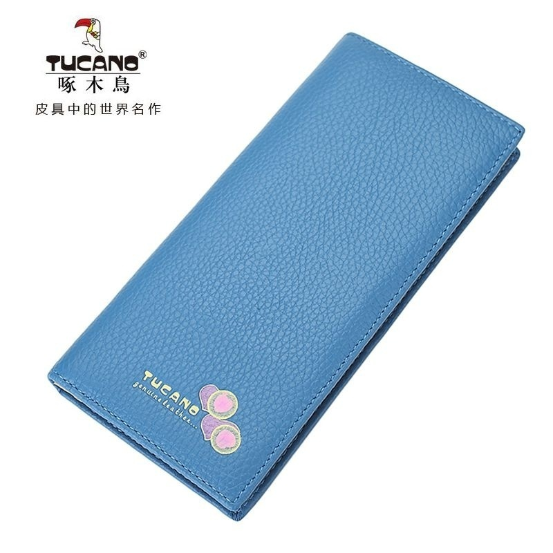 Woodpecker ms. wallet women wallet purse cowhide leather wallet long section of female wallet leather women wallet