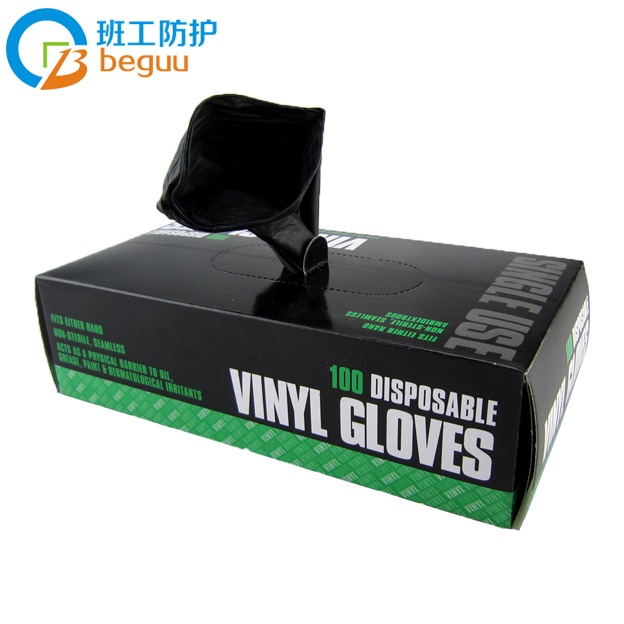 Working class oilproof black household disposable gloves nitrile disposable gloves laboratory gloves aftermarket 100