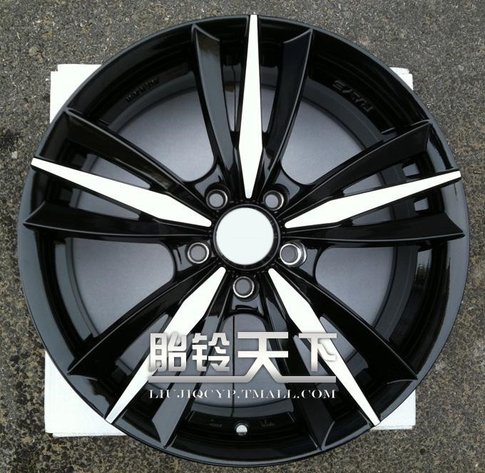 [World] fetal bell picture 5 points trigeminal black car surface modified alloy wheels 1 7 inch TL625