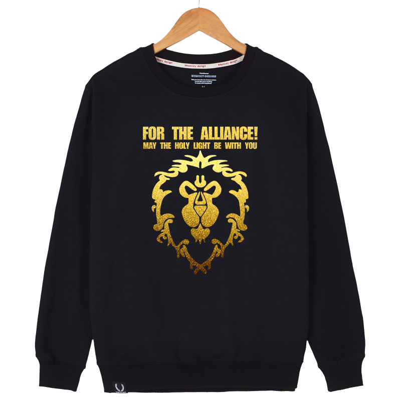 World of warcraft hedging sweater men korean trend student sports round neck printed men's autumn thin coat male