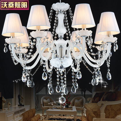 Wosang extraordinary noblemen european crystal lamps ceiling with vintage chandelier shade cloth living room dining room