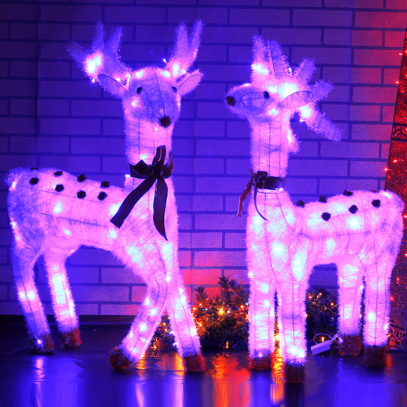 Wrought iron christmas decoration package christmas decorations christmas decorations christmas deer head lights