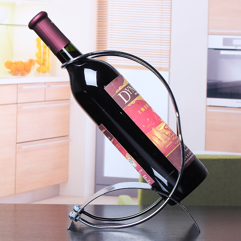 Wrought iron wine rack wine rack fashion ornaments showcase wine rack wine rack cup holder cup holder european red wine rack wine rack creative ornaments