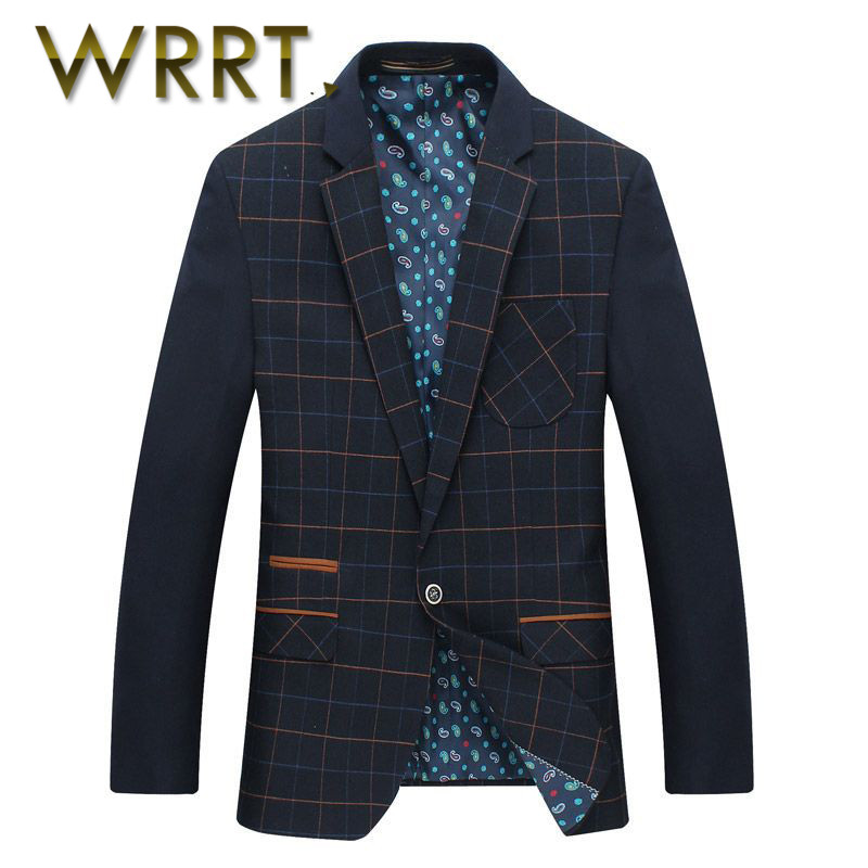 Wrrt year new spring and summer men's business suits casual korean version of a single breasted long sleeve wild 8630