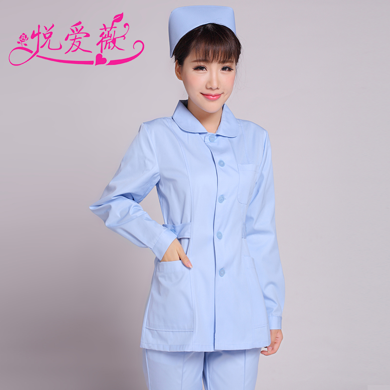 Wyatt ivy new autumn and winter nurse nurse split sleeved suit pharmacy nurse lab coat dress uniforms