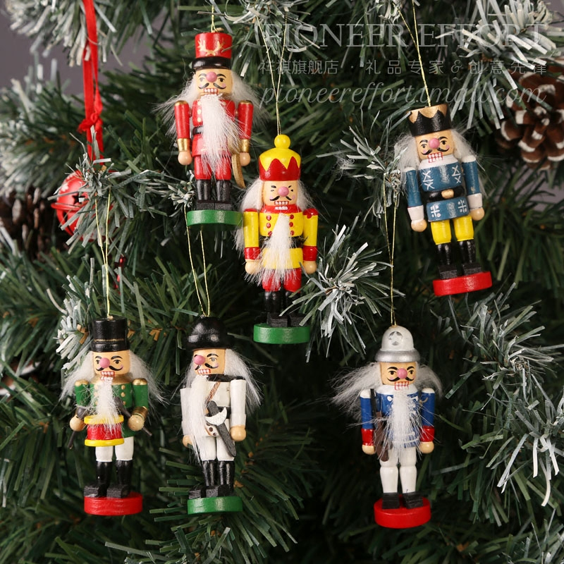 x multi agent system small wooden nutcracker nutcracker christmas pendant kit sanctuary tree decoration - Christmas Decorations Wooden Soldiers