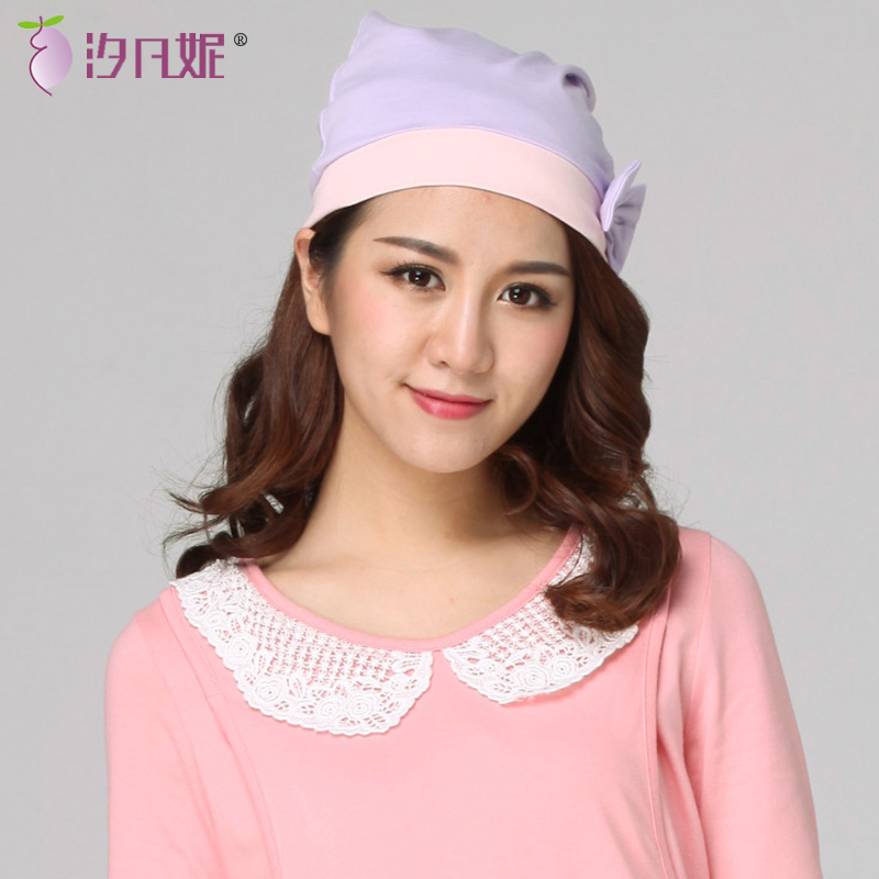 Xi fanny spring and summer of pregnant women hat cap month of maternal postpartum anti head wind pregnant women hats cap summer paragraph women