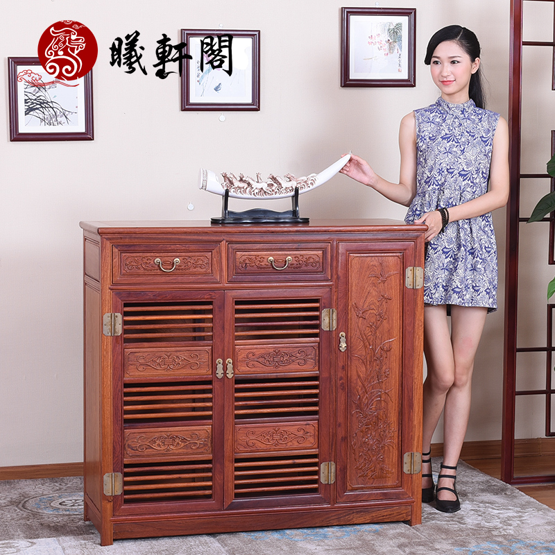 Xi hin court burmese rosewood mahogany furniture antique chinese antique carved wood shoe storage cabinets lockers