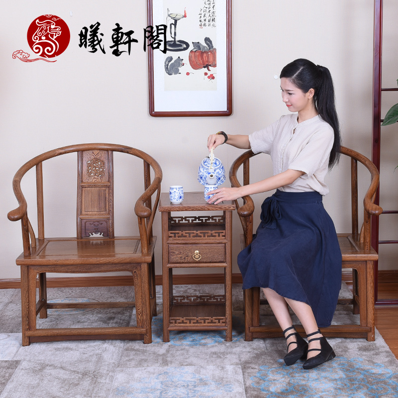 Xi hin court hundred wings three sets of combination of chinese antique mahogany wood furniture wood chair armrest backrest