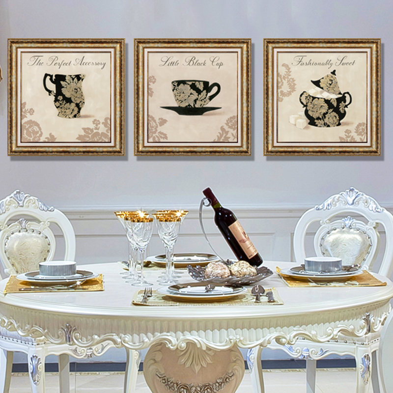 Xi shi modern minimalist upscale decorative painting mural paintings framed european american restaurant triptych paintings coffee cup