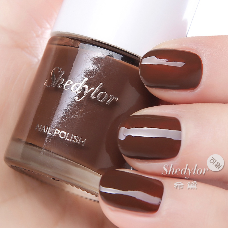 Xi sidai chocolate brown dark brown brown brown nail polish was white can tear peelable toxic Water genuine