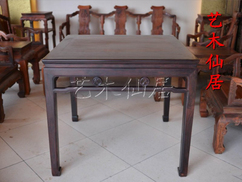 Xianyou mahogany antique furniture/india lobular rosewood square table/altar/with table/solid wood leisure Table