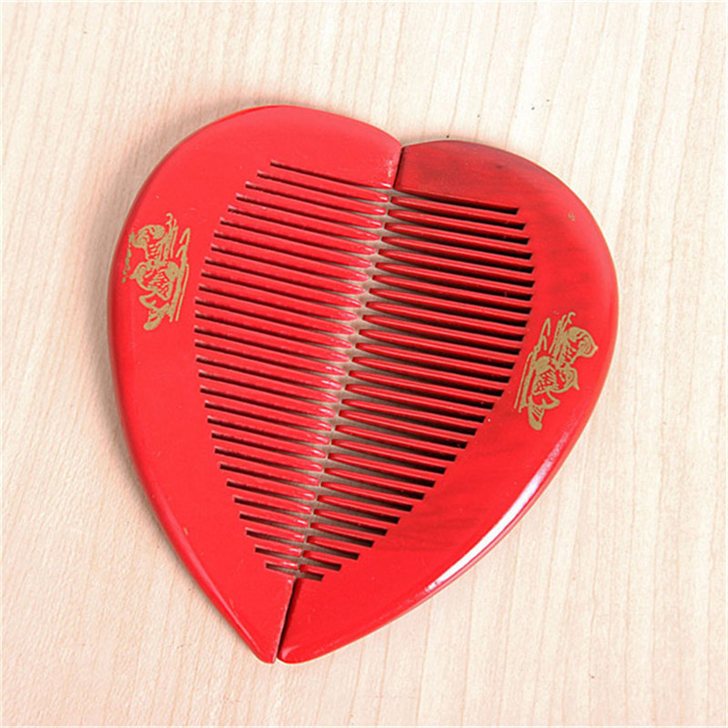 Xin hang wedding celebration other wedding supplies wedding red dragon comb hair comb wooden hearts bi child