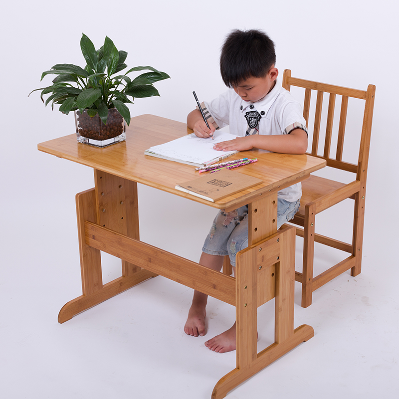Xin kai source of whole bamboo bamboo lift suit student homework desks and chairs learning table desk desk desk disassembly outdoor