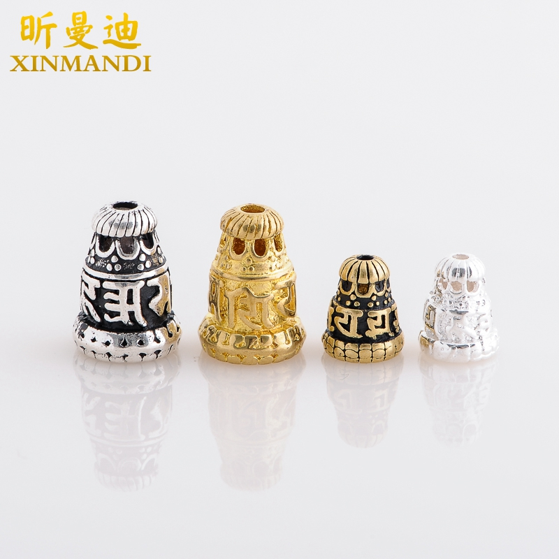 Xin mandy-combined gold and silver/brass mantra stupa bodhi tee buddha stupa tibetan xingyue diamond accessories